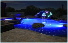 Các kiểu trang trí hồ bơi bằng ánh sáng Độc Đáo - Cuốn Hút - Thơ Mộng